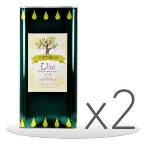 Pack 2 Lattine Olio Extravergine di Oliva da 5lt
