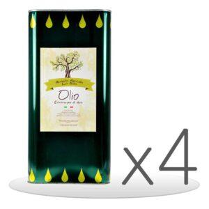 Pack 4 Lattine Olio Extravergine di Oliva da 5lt